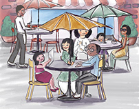 Published work -'lunch time' For Chrysalis foundation