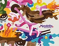 Mondelez - Vector Illustration Mural