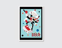 Design: Isometric Nike Shoe City Illustration
