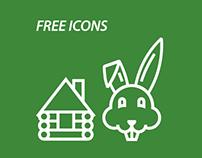 The leporine hut (Free icons)