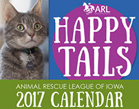 Animal Rescue League of Iowa - 2017 Calendar Design