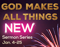 All Things New- Sermon Series Graphics Package