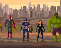Avengers Lineup Pixelart