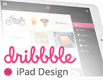 Dribbble iPad Design