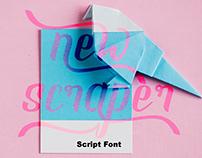 NEW SCRAPER - Scrip Font