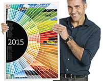 Half Circle Spectrum Calendar