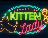 Neon Kitten Lady Animation