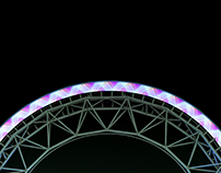 Illuminated Ferris wheels in early 21st century