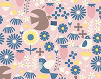 Birds and Flowers // Print and Pattern Collection