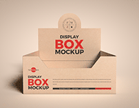 Free Kraft Display Box Mockup