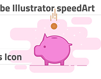 Drawing savings icon in Adobe Illustrator