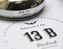 Bistrot 13B - French Restaurant Branding