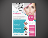 Health & Beauty Business Flyer & Trifold Brochure