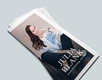 Clean Elegant Personal Stylist Trifold Brochure Design