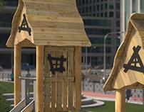 Buglo Robinia Play Playground - CGI 3D Animation