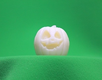 3D Printed Pumpkin Model