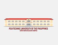 PUP - Santa Maria Bulacan Campus Flat Vector