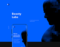 Boosty Lab - Blockchain Company Website