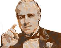 Pintura Digital - Vito Corleone