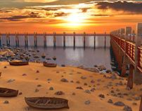 Dock Beach Environment 3d