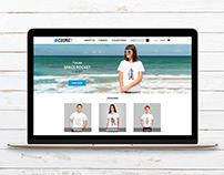 Cosmic Tee - Visual Identity & Website Layout