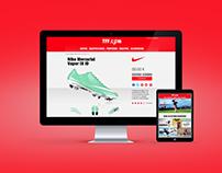 La tienda del fútbol femenino | Web Design e-Commerce