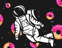 SPACE DOUGHNUT ILLUSTRATION