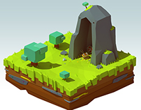 Treasure island (lowpoly)