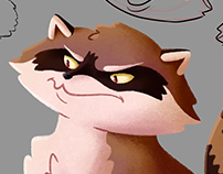 Raccoon Character Concept