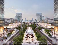 Railway station area concept/ 480 ha/ Astana