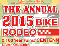 The Annual 2015 Bike Rodeo Flyer and Banner