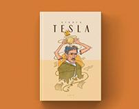 Book Cover Illustration - Nikola Tesla Portrait