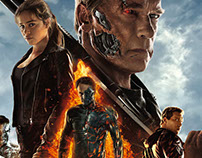Terminator Genisys, flaming DVD.