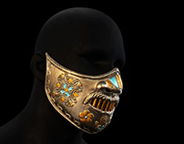 War Mask 3D Modelling & Painting