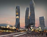 Conceptual Imaginary Design for City Centre Towers