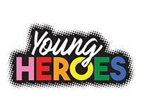 Young Heroes logo design for Anova Health Institute