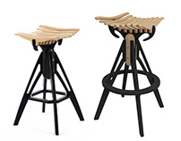Bull Stool - designer bar chair by BELSI