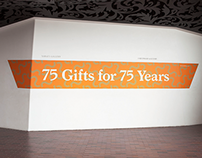 75 Gifts for 75 Years Exhibition