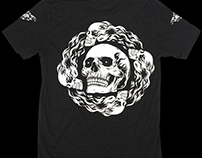 Hallow collective - flaming skulls