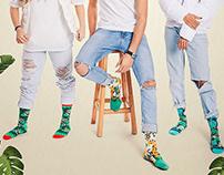Jungle Collection Socks design