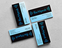 BachSpeak Logo and Business Card Design