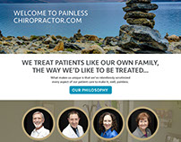 Painless Chiropractor - Website Design