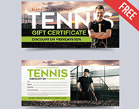 Tennis – Free Gift Certificate PSD Template