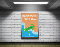 Waves Beach Resort Subway Ad