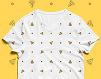 Tshirt Pizza Pattern