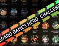 Board Games Hero Challenge Scratch Poster