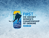 Logo for First Ice Hockey Women's Championship Ukr