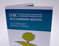 IABC 2015 Leadership Institute Event Program