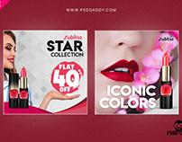 Lipstick Social Media Free PSD Template
