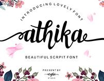 Free Athika Script Font